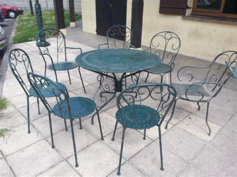 Salon De Jardin Ancien En Fer Forge