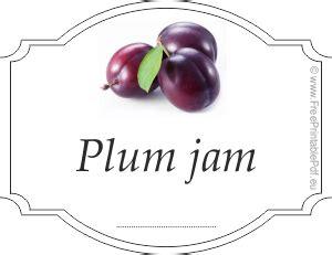 plum jam labels  printable