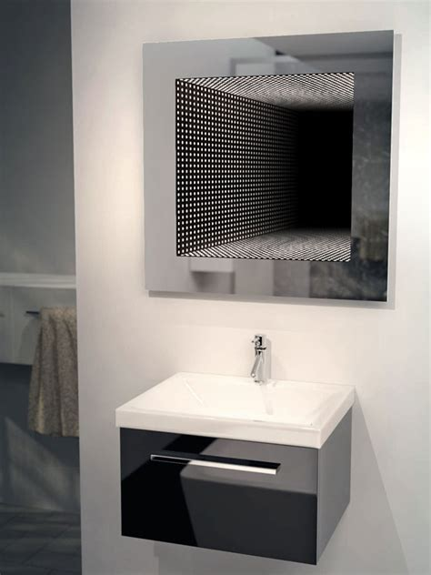 reflection rgb led bathroom infinity mirror