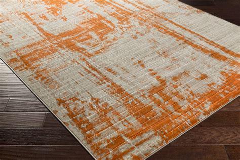 Orange Floor Rug by Surya Jax Jax 5032 Light Grey Olive Burnt Orange Area Rug