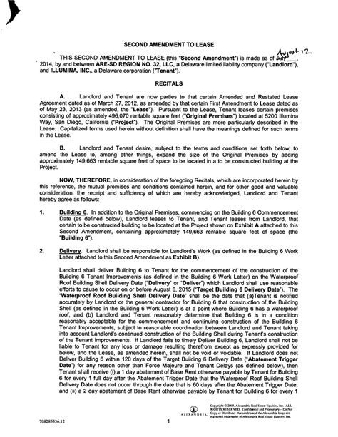 Lease Amendment Letter Page 1