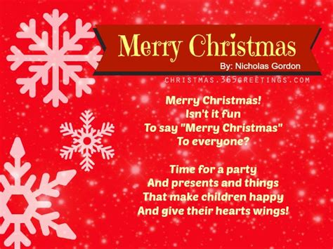 best christmas speech poems celebration all about