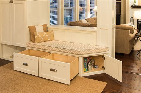 a bench seat from cabinets modern bench seat with drawers transitional kitchen
