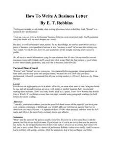 how to write a business letter pdfsr