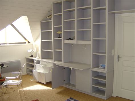 bibliotheque de bureau menuiserie couronn 233 cuisine salle de bain placard