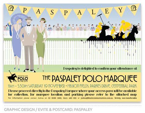 invitation design adelaide paspaley polo in the city evite graphic design logo