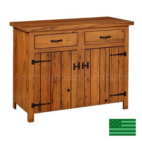 prima 2 door buffet with reclaimed barnwood made in usa