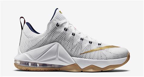 Sepatu Basket Nike Lebron 13 Low Navy White nike lebron 12 low usa white metallic gold sneaker bar
