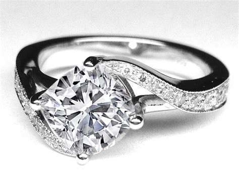 engagement ring cushion swirl engagement ring 0