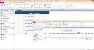 access 2010 templates access database employee salary administration templates