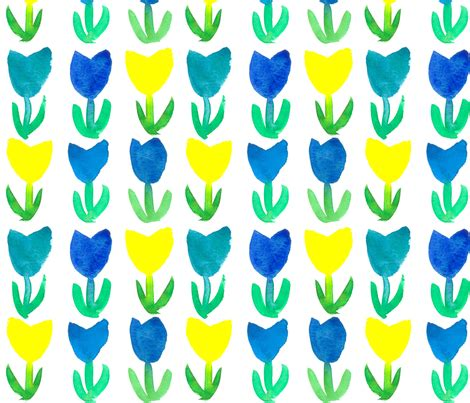yellow royal pattern tulips in royal blue and yellow fabric countrygarden