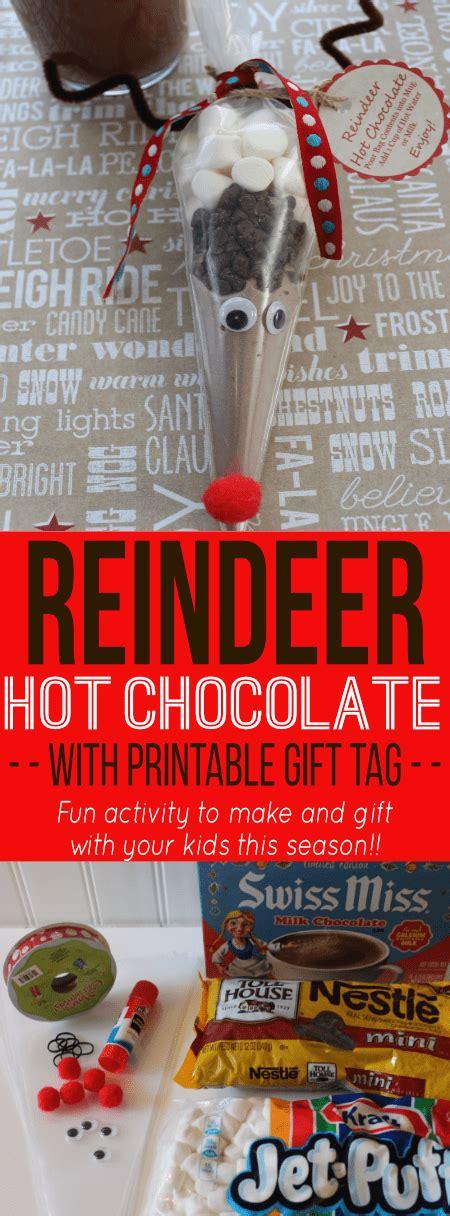 free printable reindeer hot chocolate reindeer hot chocolate mix savings lifestyle