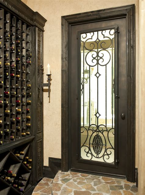 Spanish Home Interior Design by Hand Forged Wrought Iron Custom Wine Cellar Doors Amp Gates