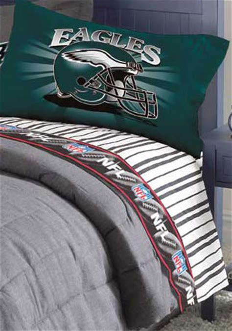 philadelphia eagles bedroom decor philadelphia eagles queen size pinstripe sheet set