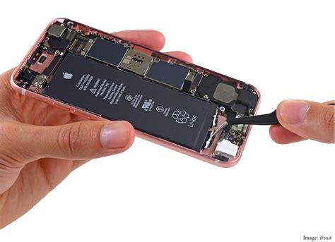 iphone  teardown shows  smaller battery