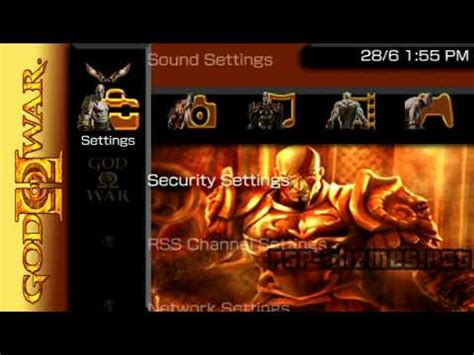god of war psp themes for 5 00 m33 free psp themes downloads psp theme god of war 2 2 psp themes net youtube