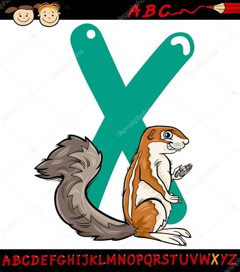 imagenes animal x letra x para xerus dibujos animados ilustraci 243 n vector