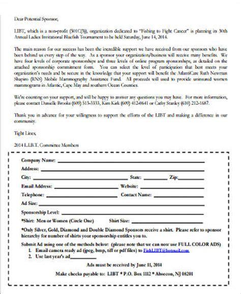 Sponsorship Letter Exles For Non Profit Organizations Sle Sponsorship Letter 9 Exles In Word Pdf
