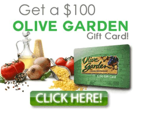 Olive Garden Email Gift Card - win 100 olive garden gift card luv2qpon