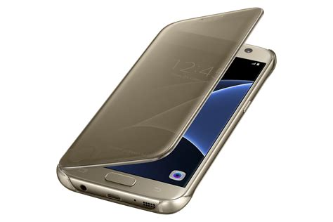 Delkin Flip Cover Samsung S7 Gold samsung galaxy s7 s view clear flip cover