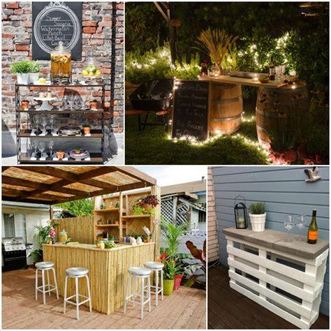creative   budget diy outdoor bar ideas diy smartly