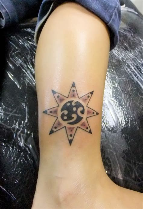 feminine sun tattoo designs the world s best photos of ankle and tatuagem flickr