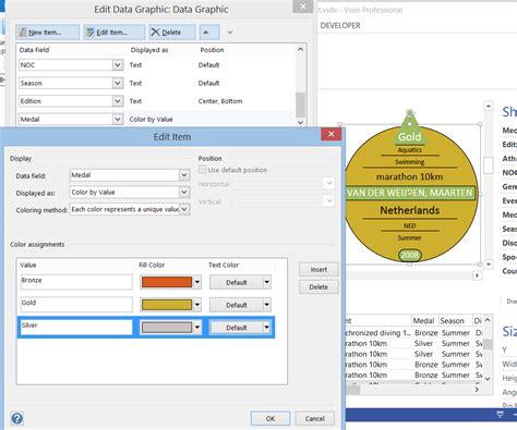 visio color data graphics text callouts in visio 2013
