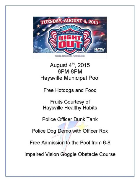 national night out flyer template beepmunk