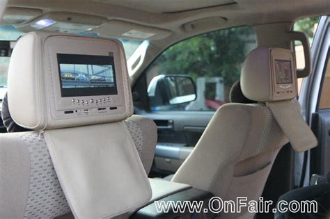 Toyota Headrest Dvd Car Headrest Dvd Player Install In 2008 Toyota Tundra