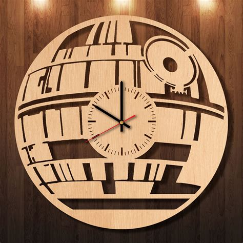 Handmade Wall Clocks - starwars collectables handmade wood wall clock in