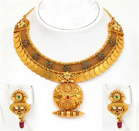 gold indian pattern gold jewellery designs necklaces www imgkid com the