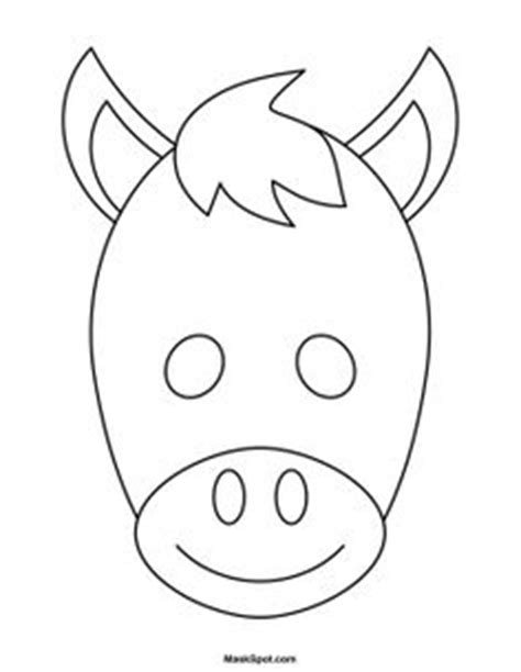 printable animal masks donkey chicken mask templates including a coloring page version