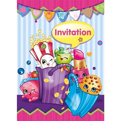 shopkins invitations this party started
