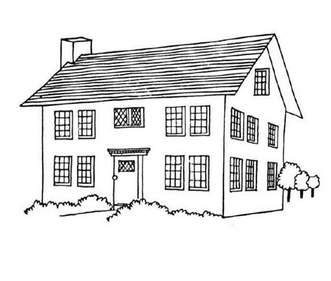 coloring pages for houses free printable house coloring pages for