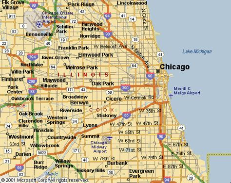 chicago suburb map chicago metro map travelsfinders