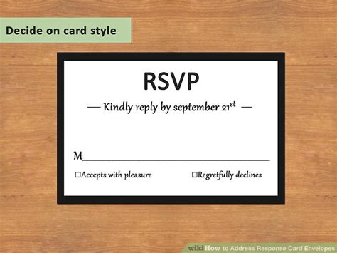 how do you address wedding response cards how to address response card envelopes with pictures wikihow