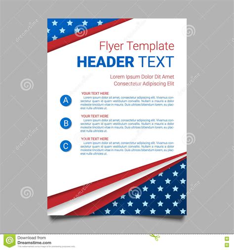 Usa Patriotic Background Vector Illustration With Text Stripes And Stars For Posters Flyers Free Patriotic Flyer Template