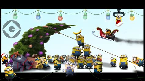 wallpaper christmas minion christmas comes this time each year by creativemikey on
