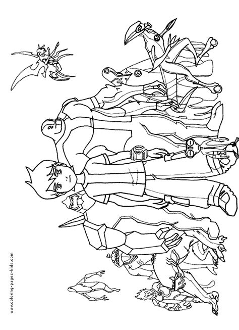 Ben 10 Color Page Cartoon Color Pages Printable Ben 10 Printable Rath Coloring Pages