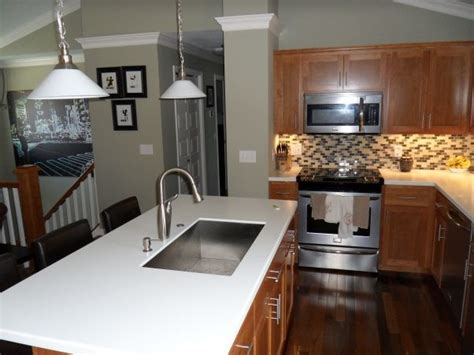 split level kitchen designs bi level kitchen renovation opened up stairs moved island