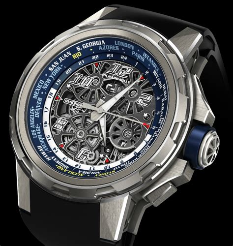 Rm 027 02 Stainless Steel Tourbillon Skeleton richard mille rm 63 02 world timer automatic by