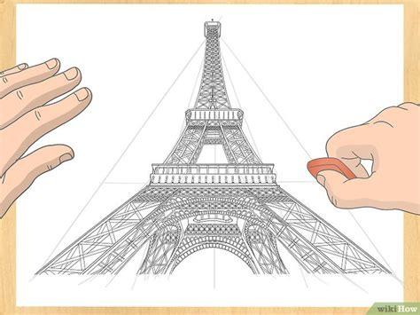 Kaos Cewek Gambar Perangko Menara Eiffel cara menggambar menara eiffel wikihow