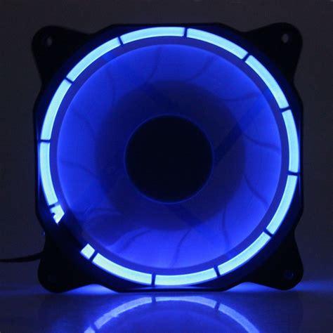 Alseye Fan Casing 12 Cm Eclipse Blue New 5pcs eclipse fan 120mm blue led pc computer cooler cpu cooling dc 12v 3pin 4pin in fans