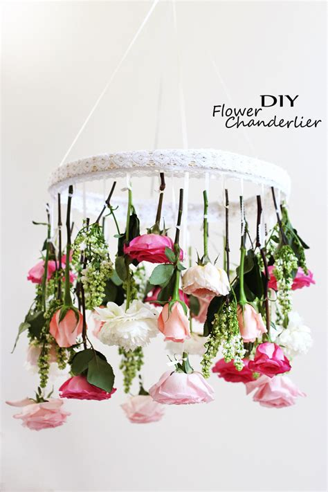 diy bedroom chandelier ideas diy flower chandelier easy shabby chic room apartment project craft ideas