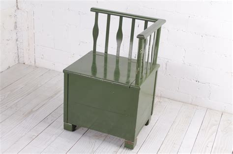bench storage unit antique green bench storage unit for sale at pamono
