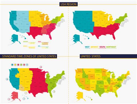 usa hour map map of united states