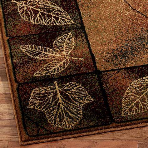 leaf area rug gold leaf area rug