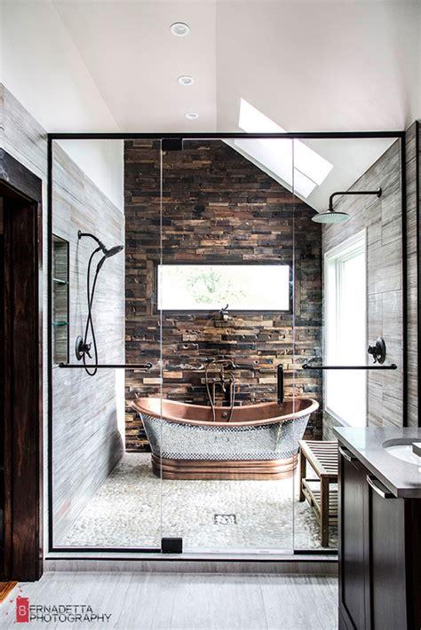 Badezimmer Landhausstil Modern by Modern Bathroom With Rustic Elements Home Design And