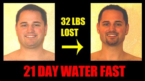 water fasting before and after water fasting day 21 of 21 breaking the fast