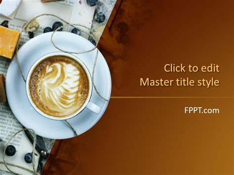 Free Coffee Powerpoint Templates Coffee Powerpoint Template Free